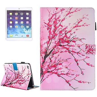 For iPad 2018,2017 9.7in Wallet Case,Peach Blossom Durable Leather Cover