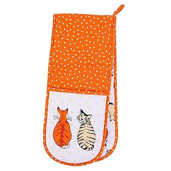Ulster Weavers Katter I Venter Kjøkken Essentials Forkle Te Koselig Ovn Micro Mitt Hansker og Pot Mat