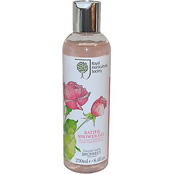 The Royal Horticultural Society Rose Bath and Shower Gel 250ml