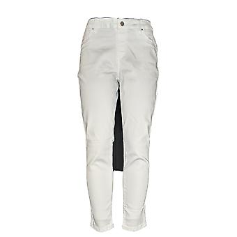 Laurie Felt Women's Jeans Silky Colored Pull On Skinny Ankle White A311093