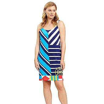 Féraud 3205070-16511 Women's Stripe Blue Beach Dress