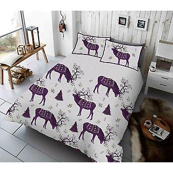 Winter Berry Stag Reindeer Duvet Cover Set