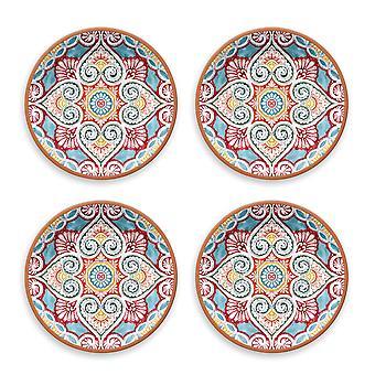 Epicurean Set van 4 platte borden van de Rio Corte Melamine
