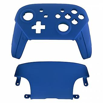 Replacement housing shell for nintendo switch pro controllers front & back cover hard soft touch - blue | zedlabz