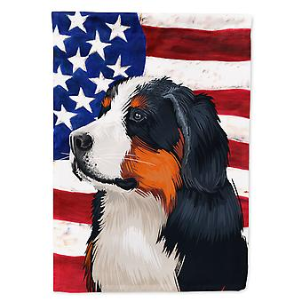 Bernese Mountain Dog American Flag Flag Canvas House Size