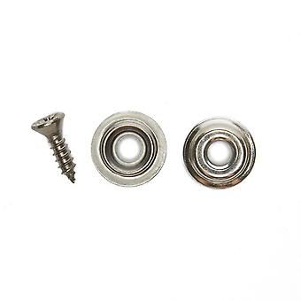 New W4 Awning Skirt Studs & Poppers Silver