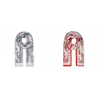Intrigue Womens/Ladies Silk Like Feather Print Scarf