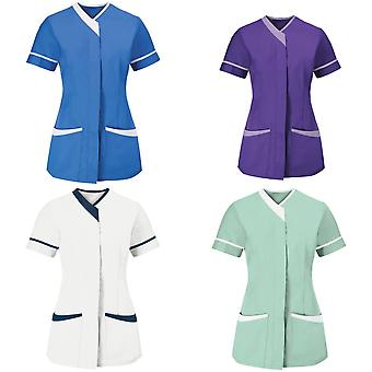Alexandra Womens/Ladies Contrast Trim Medical/Healthcare Work Tunic (Pack of 2)