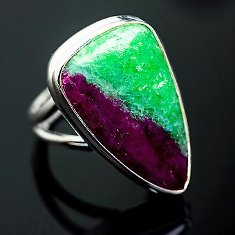 Ruby Zoisite Ring Size 6.75 (925 Sterling Silver)  - Handmade Boho Vintage Jewelry RING1000226