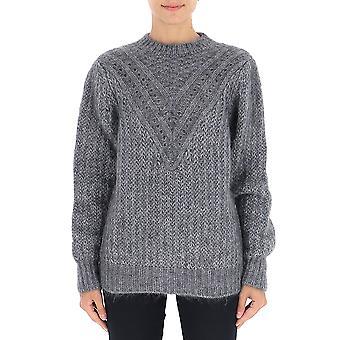 Alberta Ferretti 09245103a0509 Women's Grey Wool Sweater