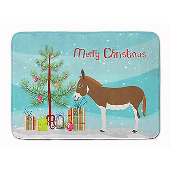 Miniature Mediterranian Donkey Christmas Machine Washable Memory Foam Mat