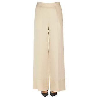Semi-couture Ezgl426013 Women's Beige Viscose Pants