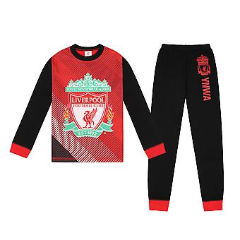 Liverpool FC Official Football Gift Boys Sublimacja Długa piżama