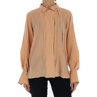 Chloé Chc20uht763076i0 Women's Pink Silk Shirt
