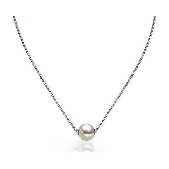 Luna-Pearls Necklace Silver rhod. 925 Freshwater Breeding Pearl Ming 11-12mm