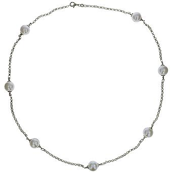 The Olivia Collection Sterling Silver Necklace With Large Simulated Pearls