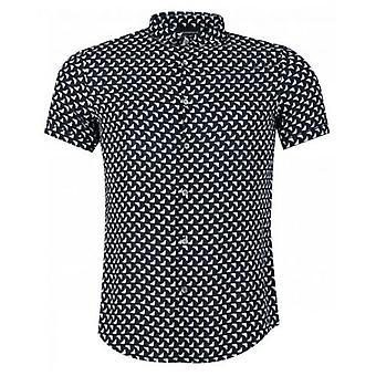 Armani All Over Eagle Short Sleeved Shirt