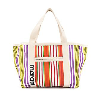 Isabel Marant Pp043020e014m11or Women's Multicolor Fabric Tote
