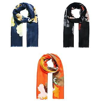 Jewelcity Womens/Ladies Abstract Watercolour Print Scarf
