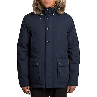 Volcom Lidward 5K Parka Jacket in Navy