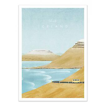 Art-Poster - Bezoek IJsland - Henry Rivers 50 x 70 cm
