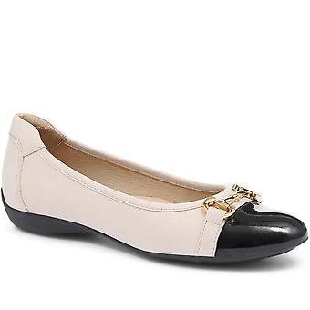 Jones 24-7 Womens Valentina Leather Ballerina Shoe