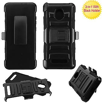 ASMYNA Advanced Armor Stand Case w/ Holster for Foxx Foxxd Miro - Black/Black