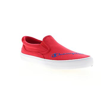 Champion Fringe Slip On  Mens Red Canvas Sneakers Shoes