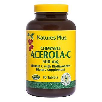 Nature's Plus Acerola-C 500mg pestañas masticables 90 (2460)