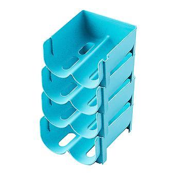 4pcs Beverage stacked storage rack Plastic laminated storage rack 14x16x7.5cm