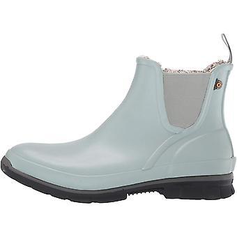BOGS Women's Amanda Plush Slip On Waterproof Rain Boot, Jade, 7