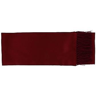 Michelsons of London Narrow Textured Silk Dress Scarf - Wine