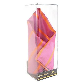 Tyler e Tyler listra bolso quadrado - rosa/laranja
