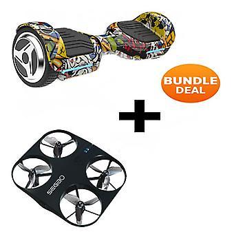 6.5&G PRO Hip Hop Bluetooth Segway Hoverboard med Drone