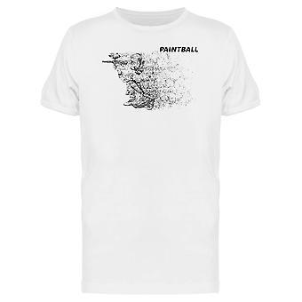Punkteret kunst mand med en Paintball Tee mænd-billede af Shutterstock