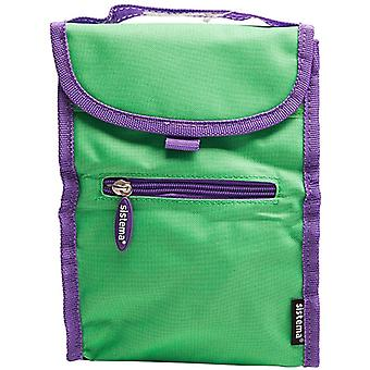 Sistema Fold Up Insulated Lunch Cooler Bag Green