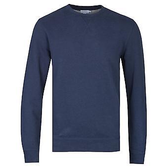 Sunspel Navy Melange Loopback Sweatshirt