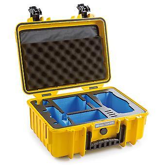 B&W Copter Case Typ 4000 für DJI Mavic 2 (Pro/Zoom) + DJI Smart Controller, Gelb Mit Schaumstoffeinsatz