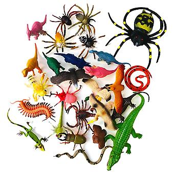 65-Pack Toy Animals Insects Dinosaurs Reptiles Birds Spiders 5-20cm Figures