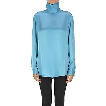 Dries Van Noten Ezgl093168 Women's Light Blue Silk Blouse