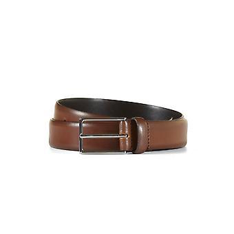Leather belt allen brown