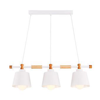 Lampe de suspension couleur de pas blanche, chêne métal, bois 77x18x120 cm