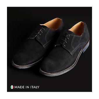 SB 3012 - shoes - lace-up shoes - 06_CAMOSCIO-B_BLU - men - navy - EU 44