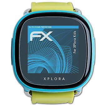 atFoliX 3x Écran protecteur compatible avec XPlora Kids Protecteur d'écran clair&flexible