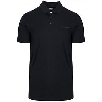 Lagerfeld Black Polo Shirt