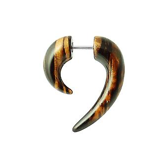 Wooden Color Spiral Tail Fake Ear Plug