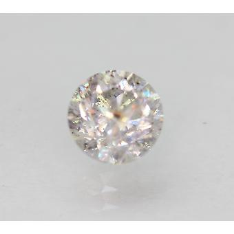 Certified 0.71 Carat I Color Round Brilliant Enhanced Natural Diamond 5.36mm