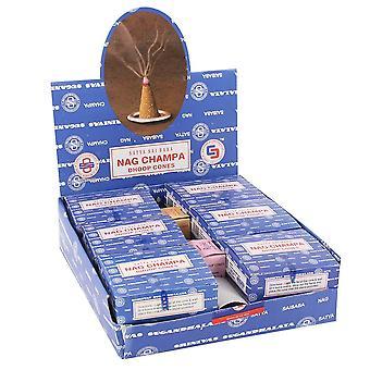 Something Different Satya Nag Champa Incense Cones (Pack Of 12 Display Box)