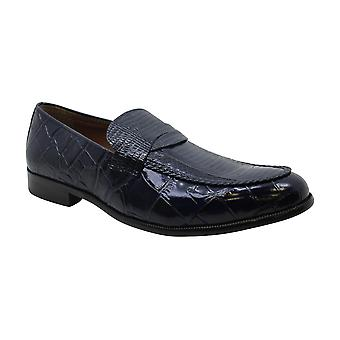 Stacy Adams Mens Krokodil gesloten Teen Penny Loafer