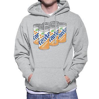 Camisola com capuz Fanta Orange 1980s retro latas para homem